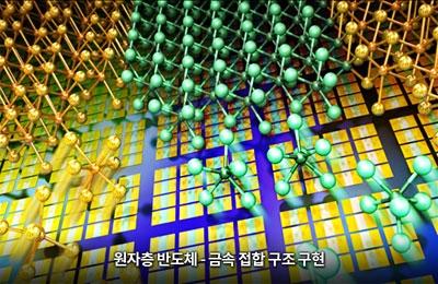 신소재 조문호 연구팀, 반도체-금속 성질 자유자재로 제어해 고성능 2차원 반도체 만든다
